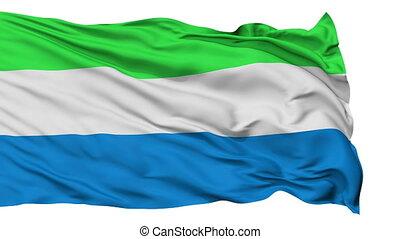 Isolated Waving National Flag of Sierra Leone - Sierra Leone...