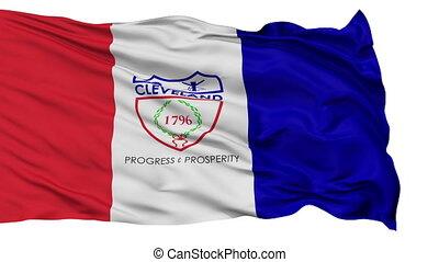 Isolated Waving National Flag of Cleveland City
