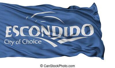 Isolated Waving National Flag of Escondido City, California...
