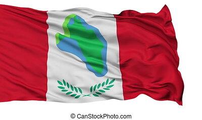 Isolated Waving National Flag of Cumberland City