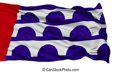 Isolated Waving National Flag of Desmoines City