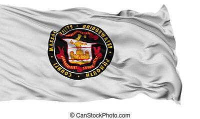 Isolated Waving National Flag of Bridgewater City,...
