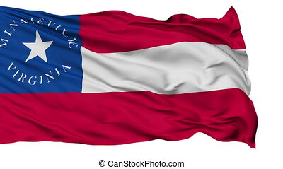 Isolated Waving National Flag of Minnieville City, Virginia...
