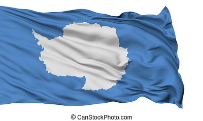 Isolated Waving National Flag of Antarctica