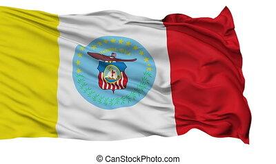 Isolated Waving National Flag of Columbus City