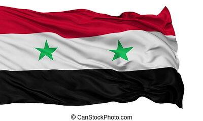 Isolated Waving National Flag of Syria - Syria Flag...