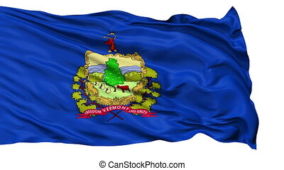 Isolated Waving National Flag of Vermont
