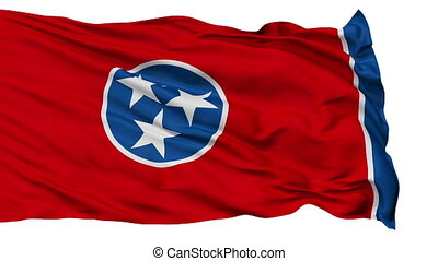 Isolated Waving National Flag of Tennessee