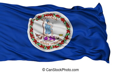 Isolated Waving National Flag of Virginia