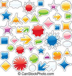 isolated web icons