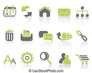 web internet icons ,green series