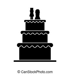 Isolated wedding cake design - Wedding cake icon. marriage...