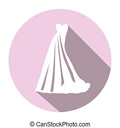 Isolated wedding clothes
