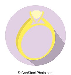Isolated wedding ring on a tag, Vector illustration