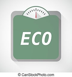 Isolated weight scale with the text ECO