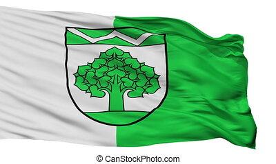 Isolated Werneuchen city flag, Germany - Werneuchen flag,...
