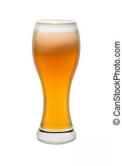 Isolated Wheat Beer, with Foam top #3