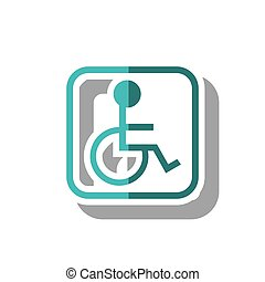 Isolated wheelchair inside frame design