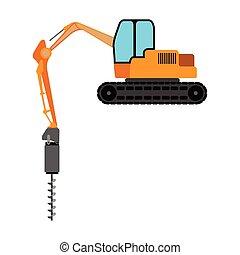 Isolated wheeled excavator