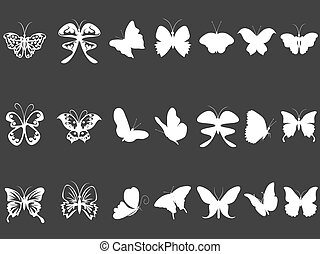 white butterfly silhouettes
