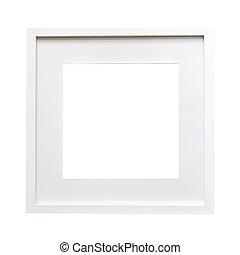 Isolated white frame mock up