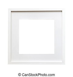 Isolated white frame mock up