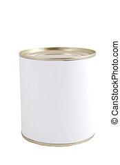isolated white tin