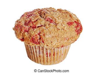 whole wheat raspberry muffin