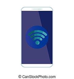 Isolated wifi icon inside smartphone vector design
