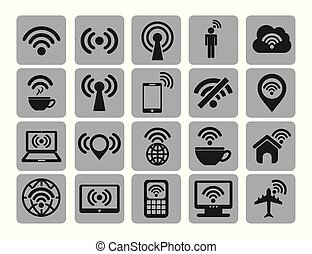 Isolated wifi icon set vector design