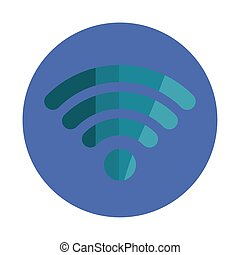 Isolated wifi icon vector design
