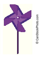 Isolated wind spinner in purple color illustration