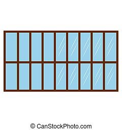 Isolated window with frame