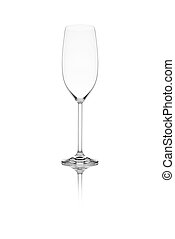 Isolated wine glass on a white background