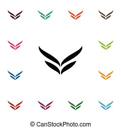 Isolated Wings Icon. Fly Vector Element Can Be Used For Wings, Fly, Angel Design Concept.