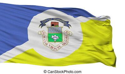 Isolated Winnipeg fair city flag, Canada - Winnipeg fair...