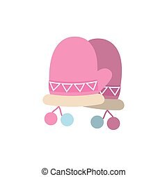 Isolated winter gloves vector design