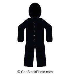 Isolated winter jacket - Winter jacket isolated on white...