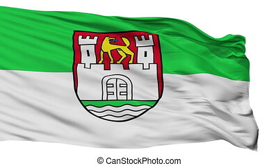 Isolated Wolfsburg city flag, Germany - Wolfsburg flag, city...