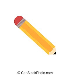 Isolated wooden pencil icon vector illustration graphic...