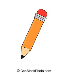 Isolated wooden pencil