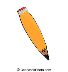 Isolated wooden pencil image. Vector illustration design