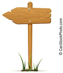 Isolated wooden sign