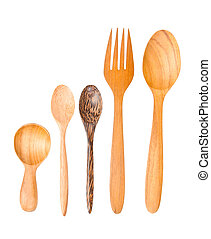 Isolated Wooden spoons