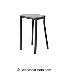 Isolated wooden stool on white background