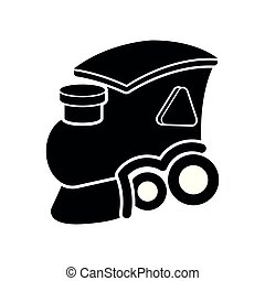 Isolated wooden train toy cartoon icon