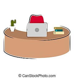 Isolated workstation image on a white background - Vector