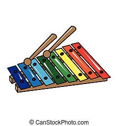 Isolated xylophone toy