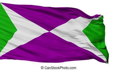 Isolated Yabucoa city flag, Puerto Rico - Yabucoa flag, city...