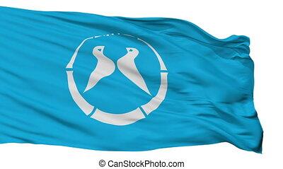 Isolated Yawata city flag, prefecture Kyoto, Japan - Yawata ...